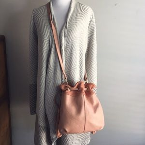 American Eagle Outfitters Bags - American Eagle Leather & Suede Bucket Bag